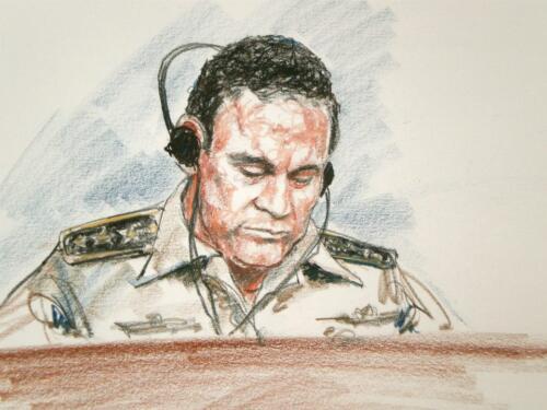Dictator Manuel Noriega of Panama - arraignment in Miami, Fla.