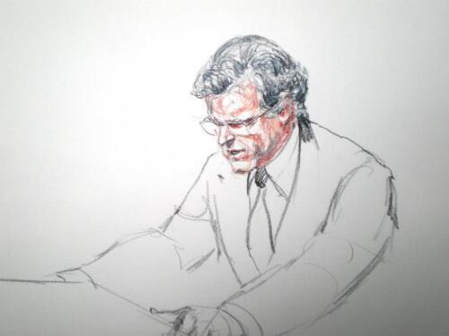 Senator Ted Kennedy on the Senate floor.